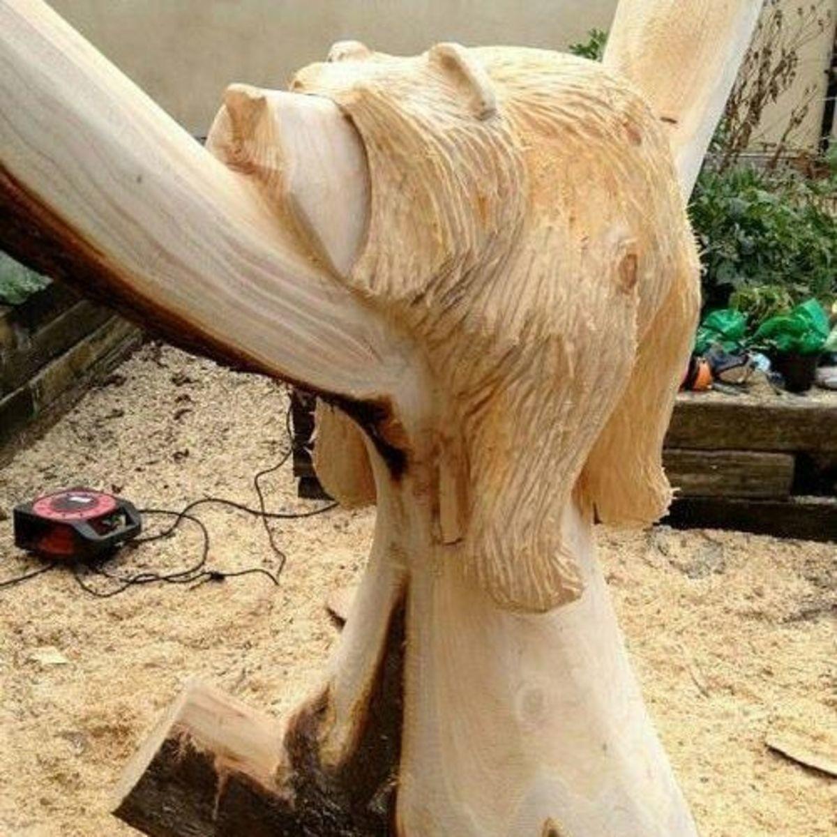 Поделки из дерева бензопилой своими руками фото