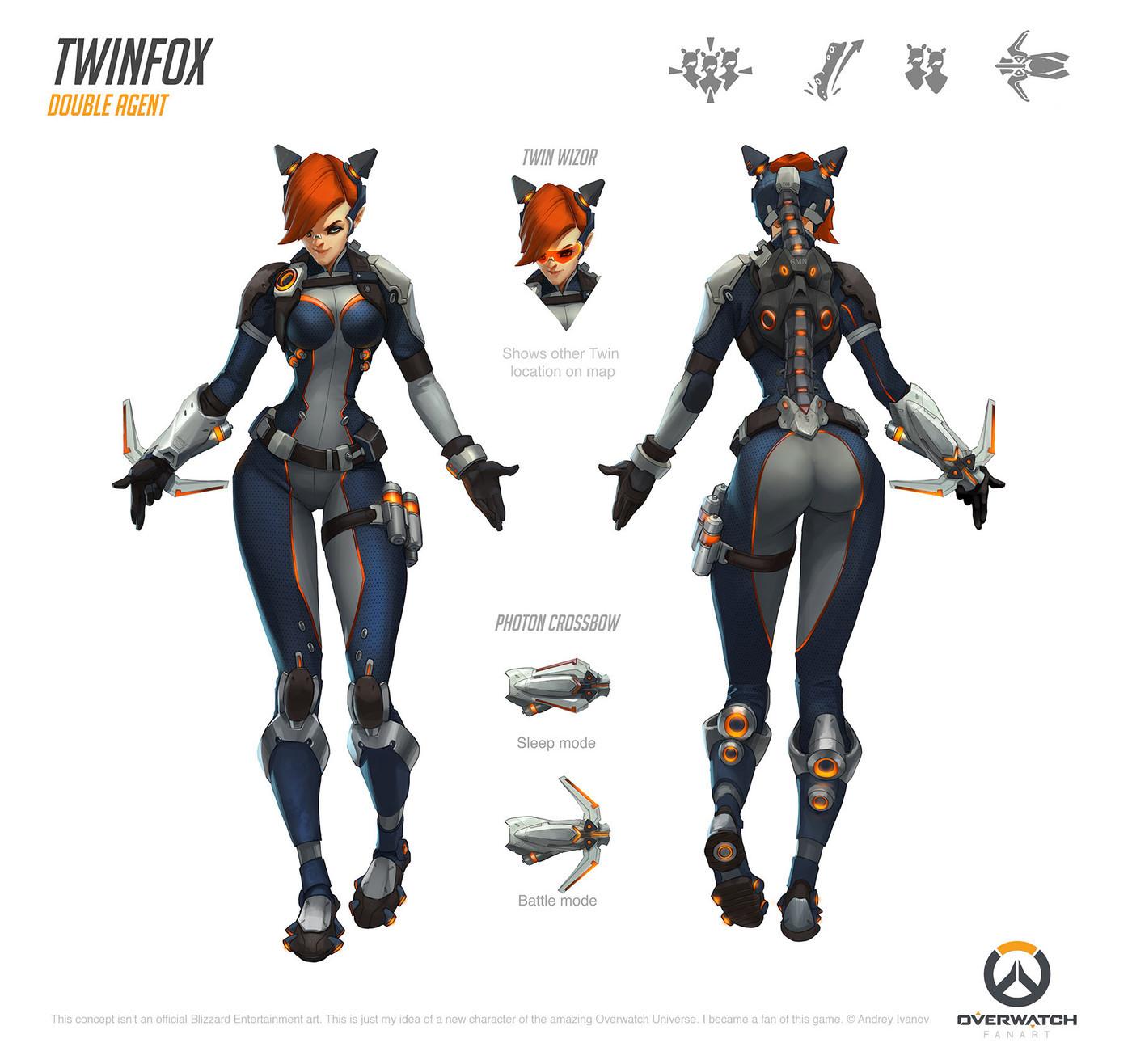 Overwatch Fan Hero Twinfox