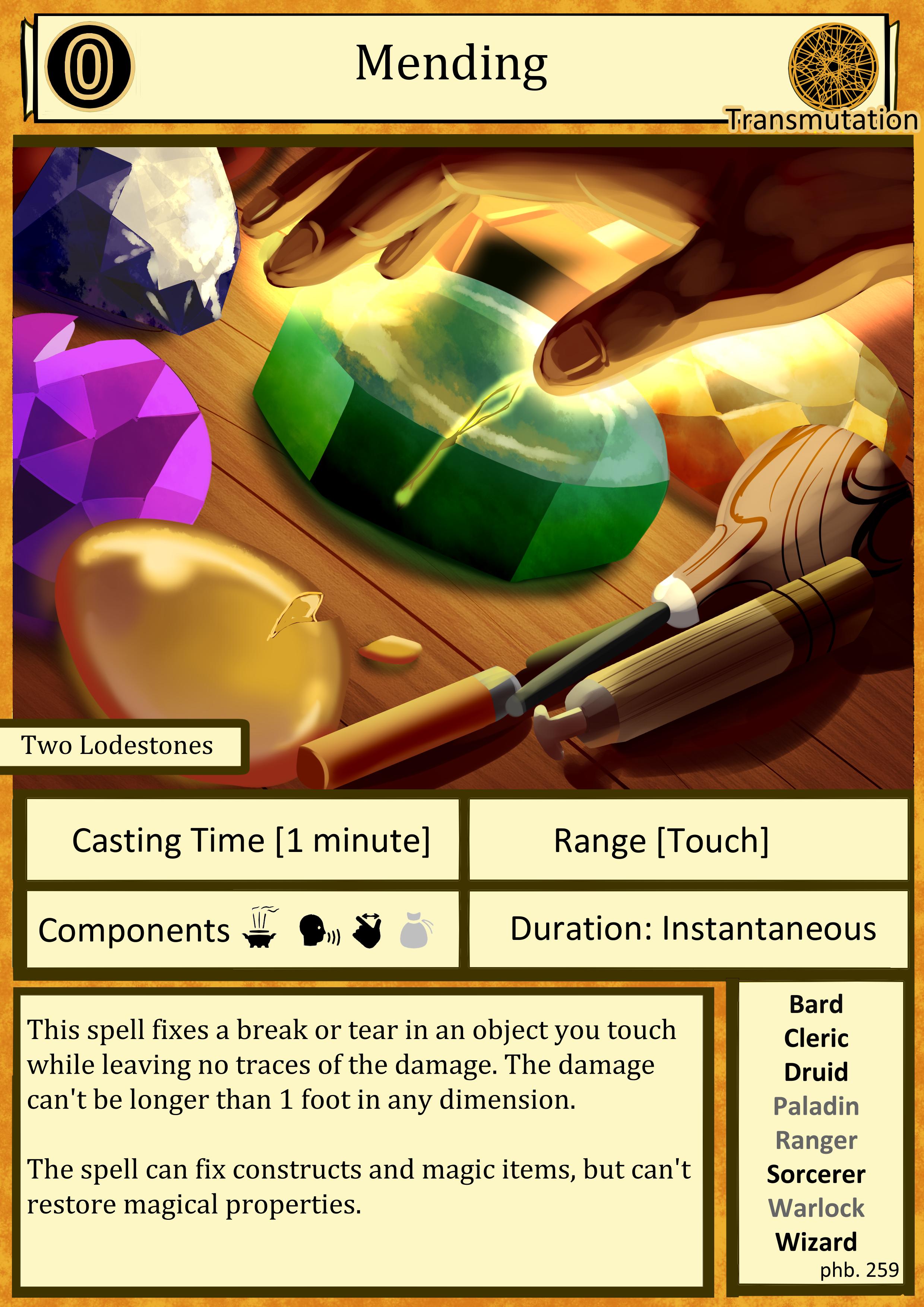 OC ART] D&D Cantrip Spell Card Art