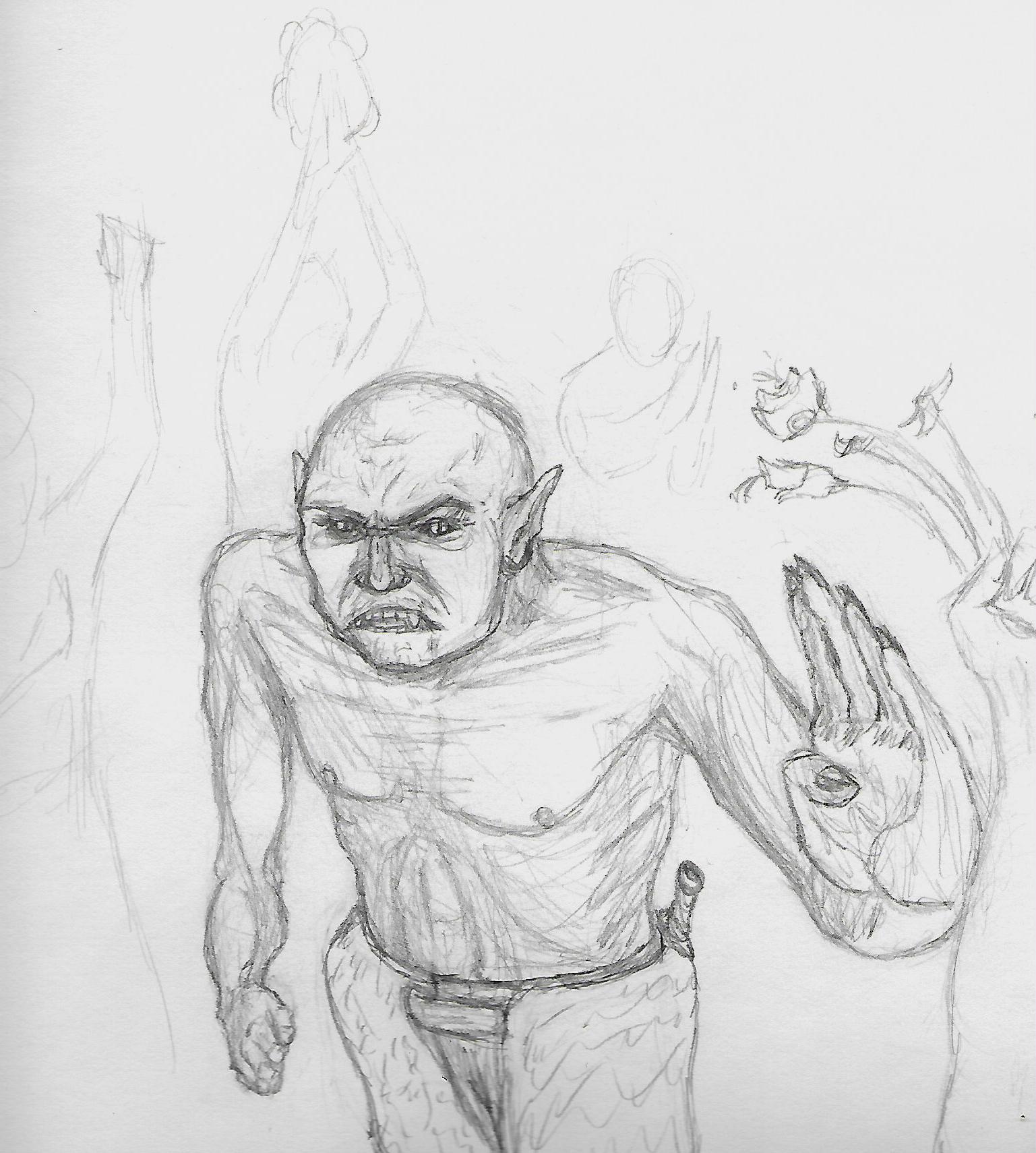 a draw a day 15: praise your goblin hero