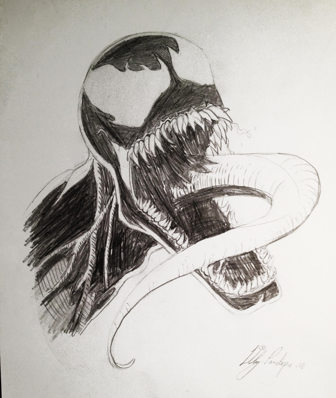 Venom Pencil Drawing