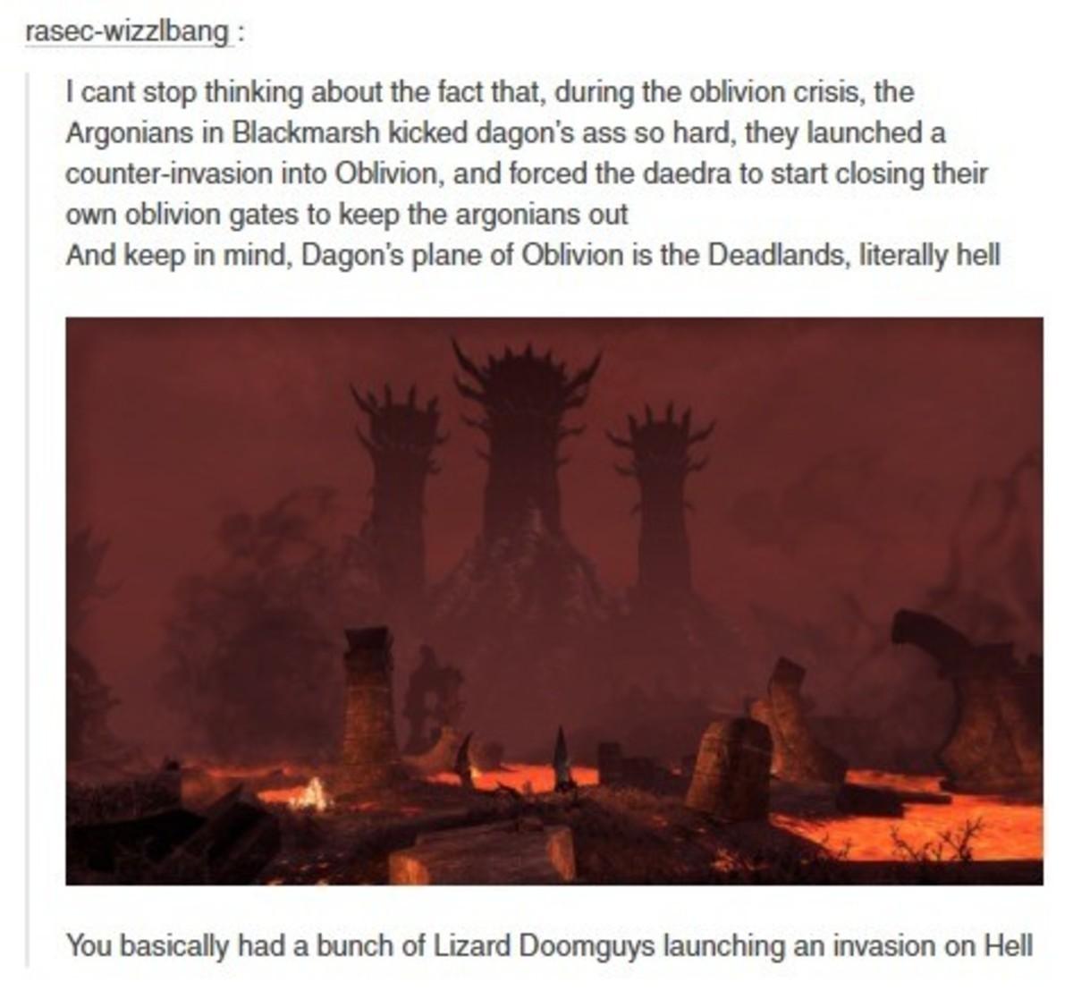 Argonians invading Oblivion