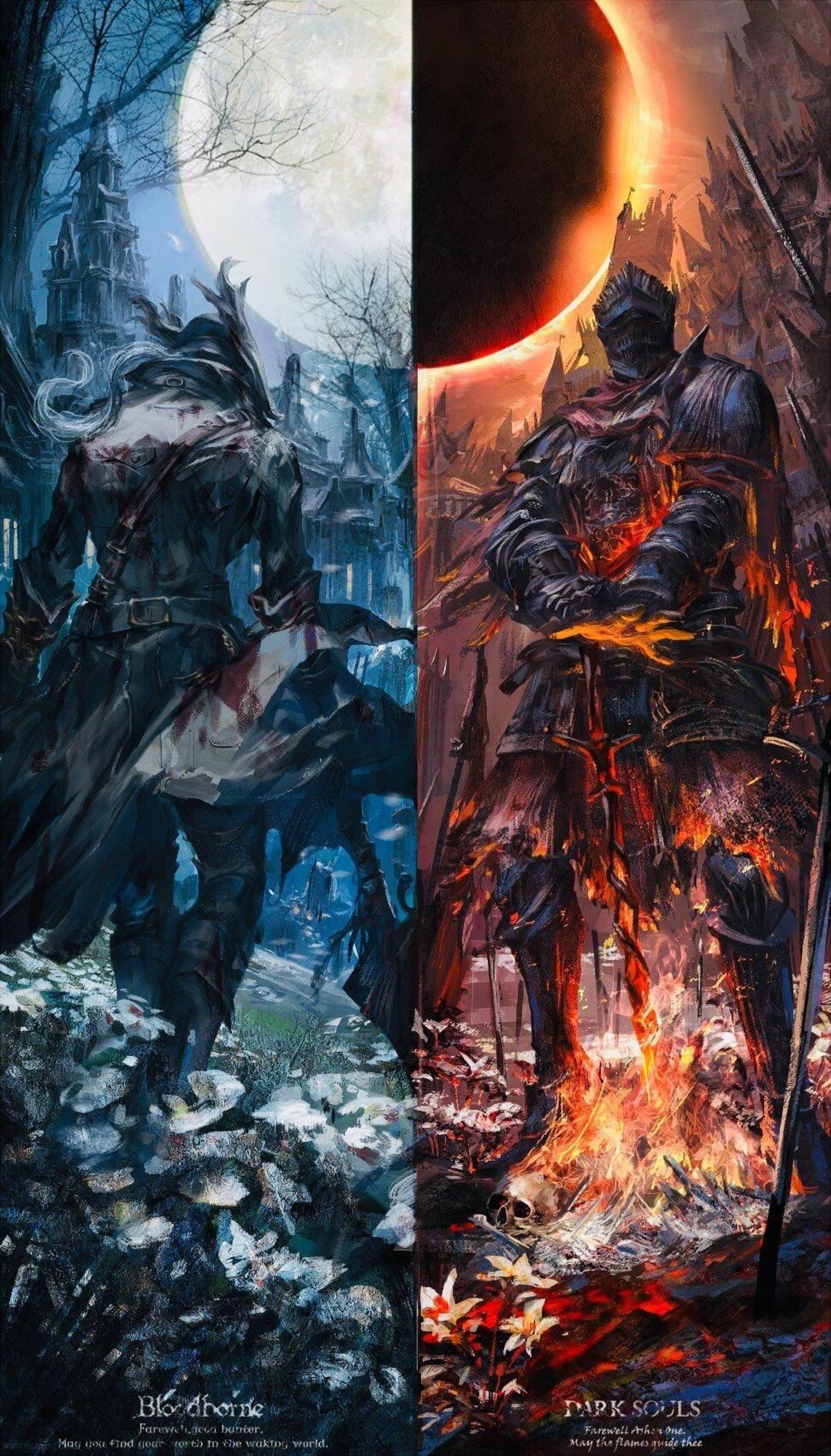 Bloodborne Dark Souls Fan Art