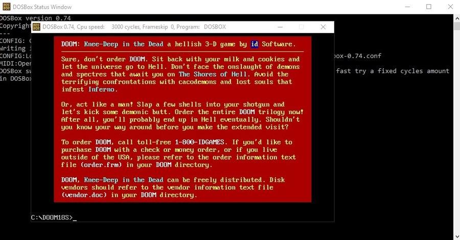 Doom shareware hidden message