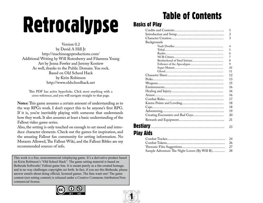 Tabletop rpg pdf fallout