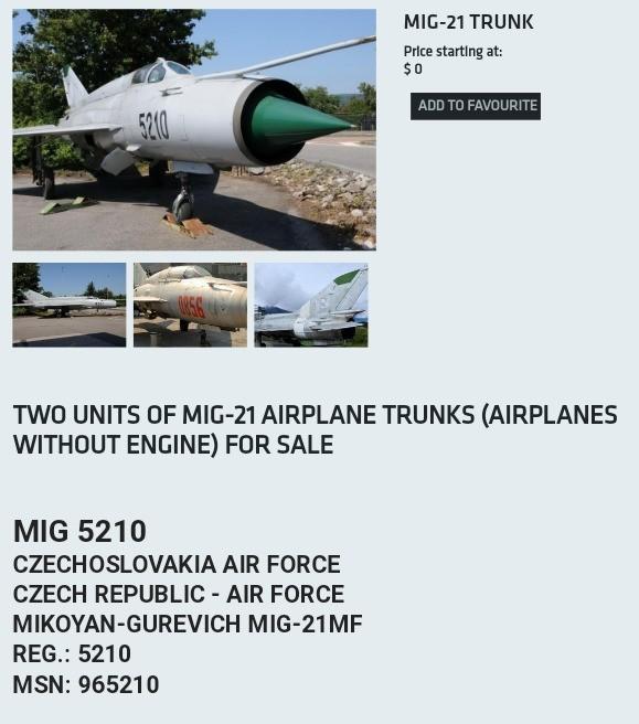 Free MIG-21s