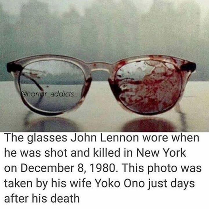 John Lennon Glasses Bloody