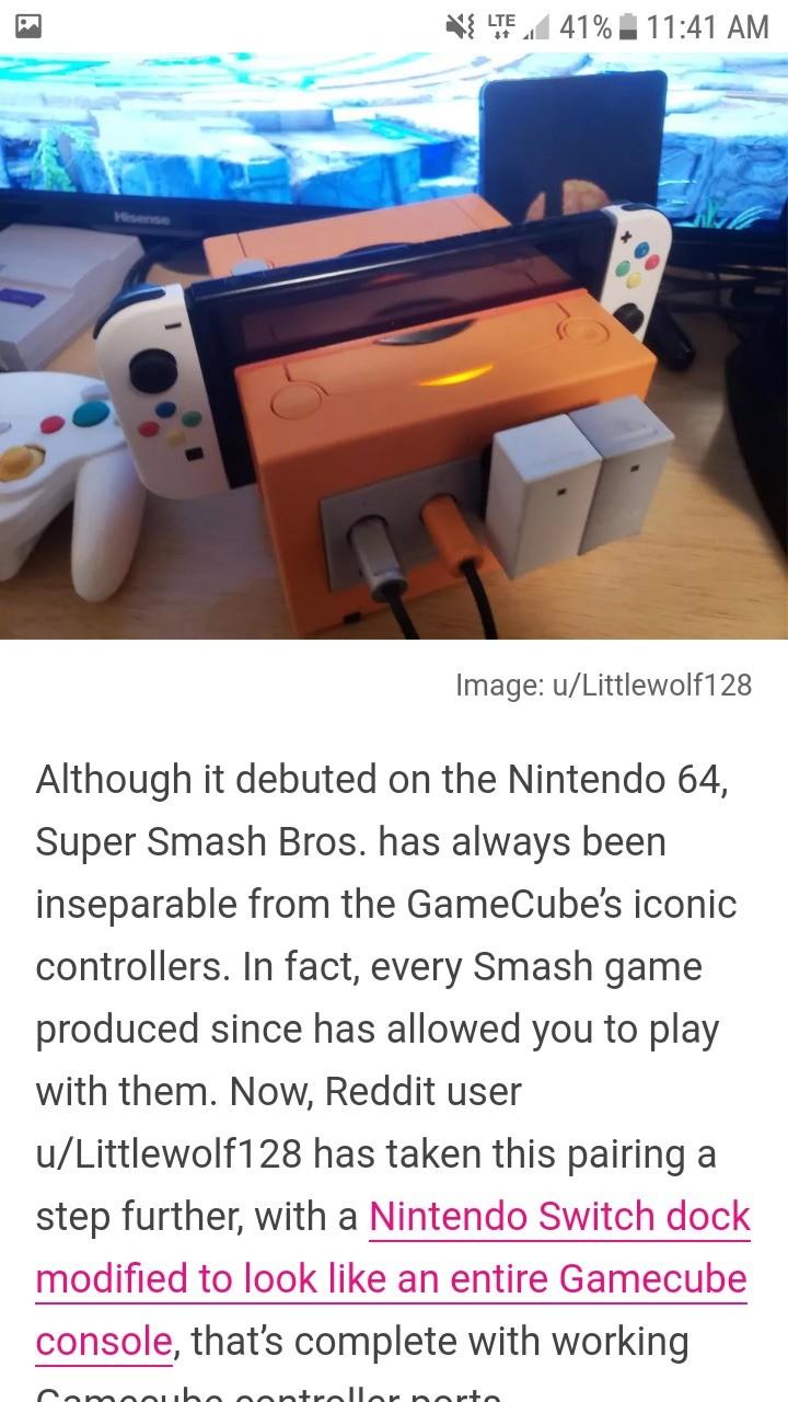 Gamecube switch dock