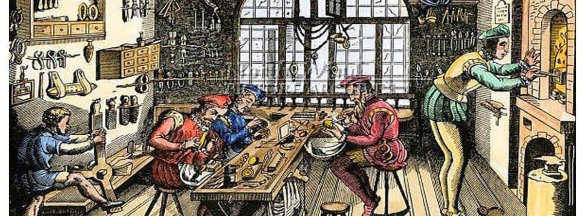 Картинки средние века ремесленные мастерские