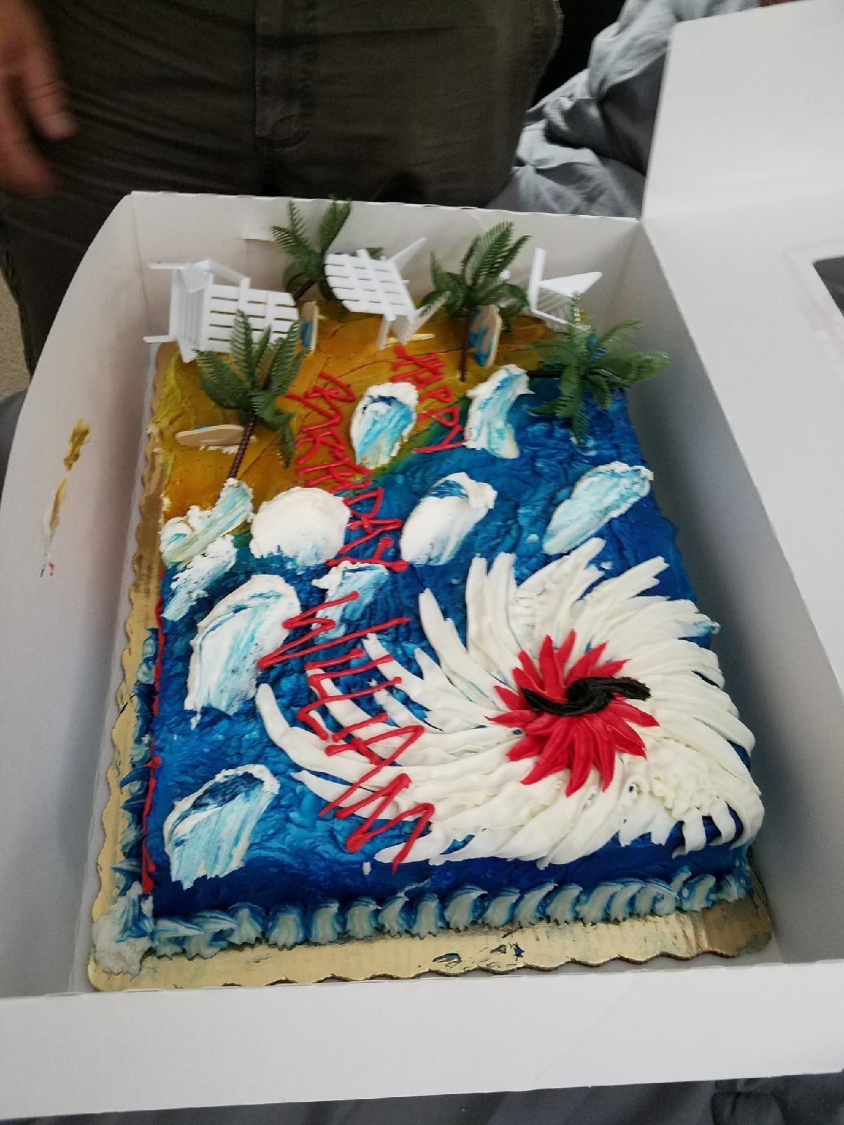 Hurricane Irma Birthday Cake