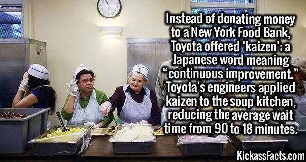 Kickass Fact Comp #42. http://www(dot)nytimes(dot)com/2013/07/27/nyregion/in-lieu-of-money-toyota-donates-efficiency-to-new-york-charity(dot)html https://en.wik