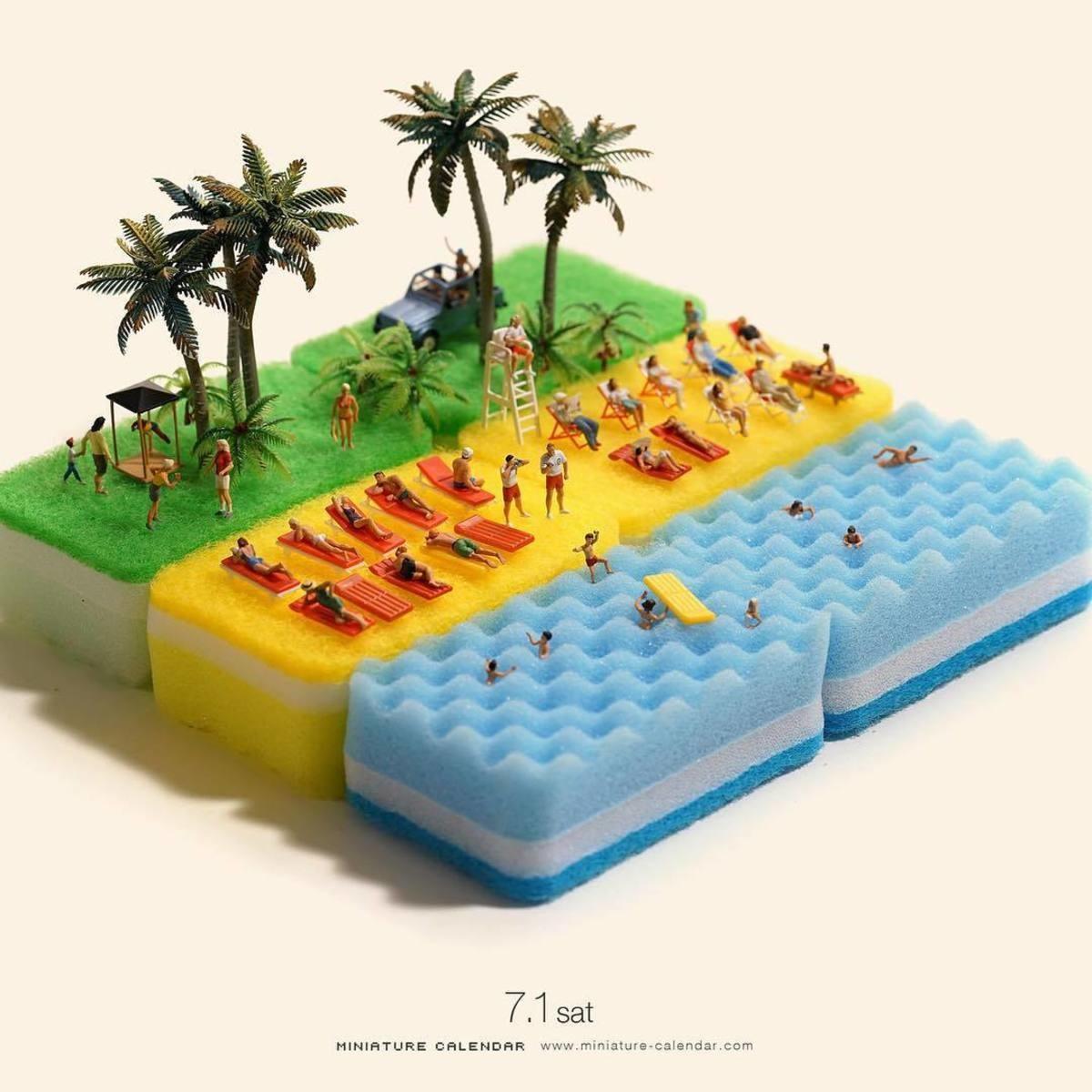 Miniature Calendar.Miniature Calendar Collection