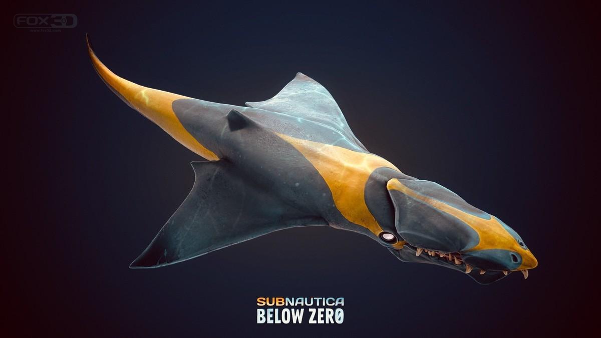 Ice Worm Subnautica 3d Model