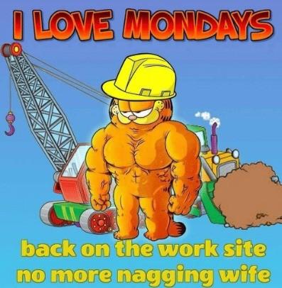 Mondays. .. Ripped boomer humor Garfield haunts my every waking moment.