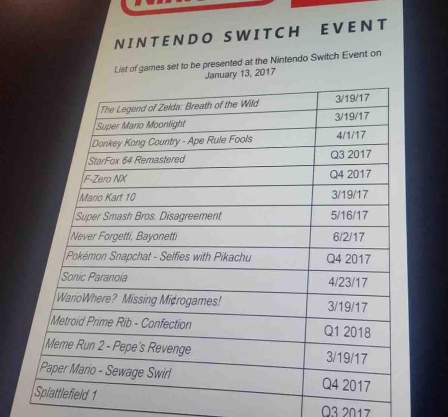 Nintendo Switch 2 Leaks