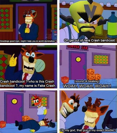 Random Crash Bandicoot Memes I made