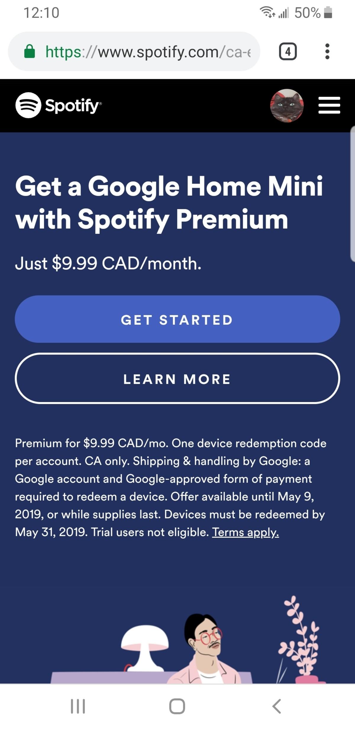 Spotify users get free Google mini