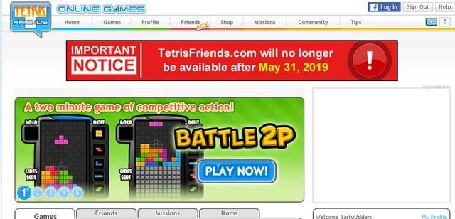 Tetris Friends going away