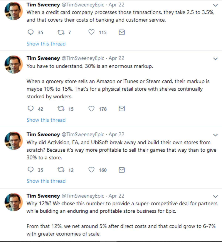 Tim Sweeney on 30%