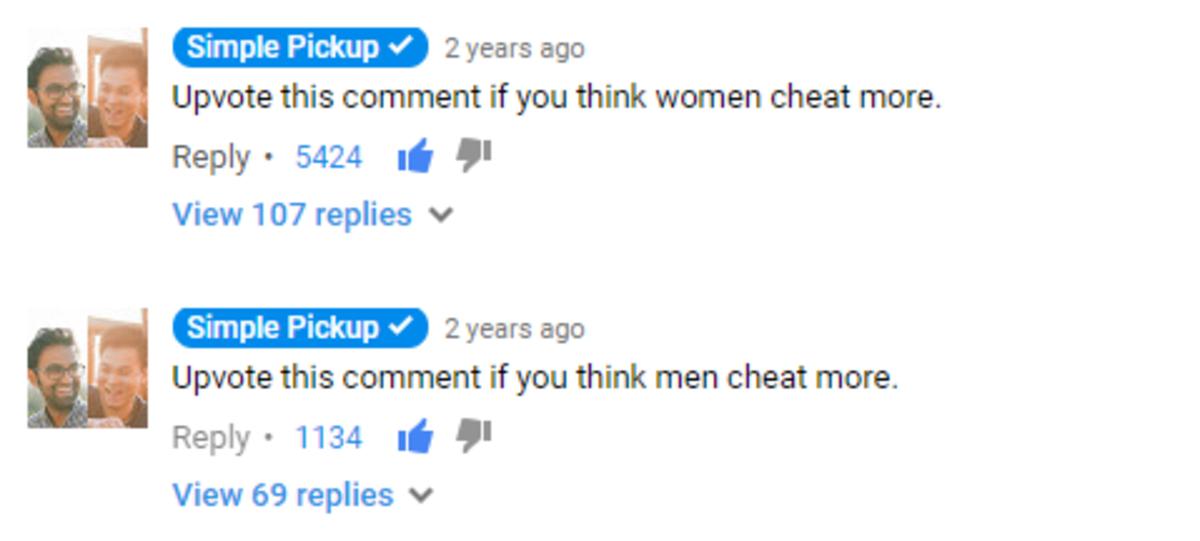 who cheats more men or women