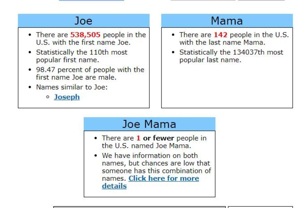 Who S Joe Joe mama is so fat i thought we're having an eclipse. who s joe